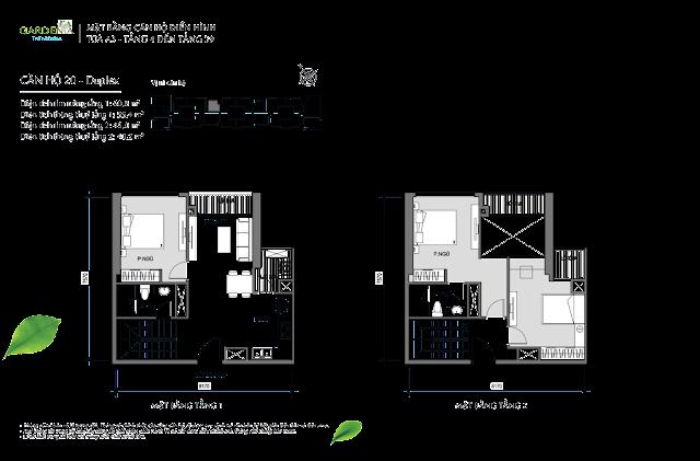 căn 20 Duplex từ tầng 4 đến tầng 39 tòa A3 The Arcadia Vinhomes Gardenia