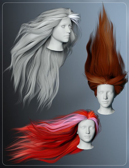 Streaming Hair for Genesis 3 Female