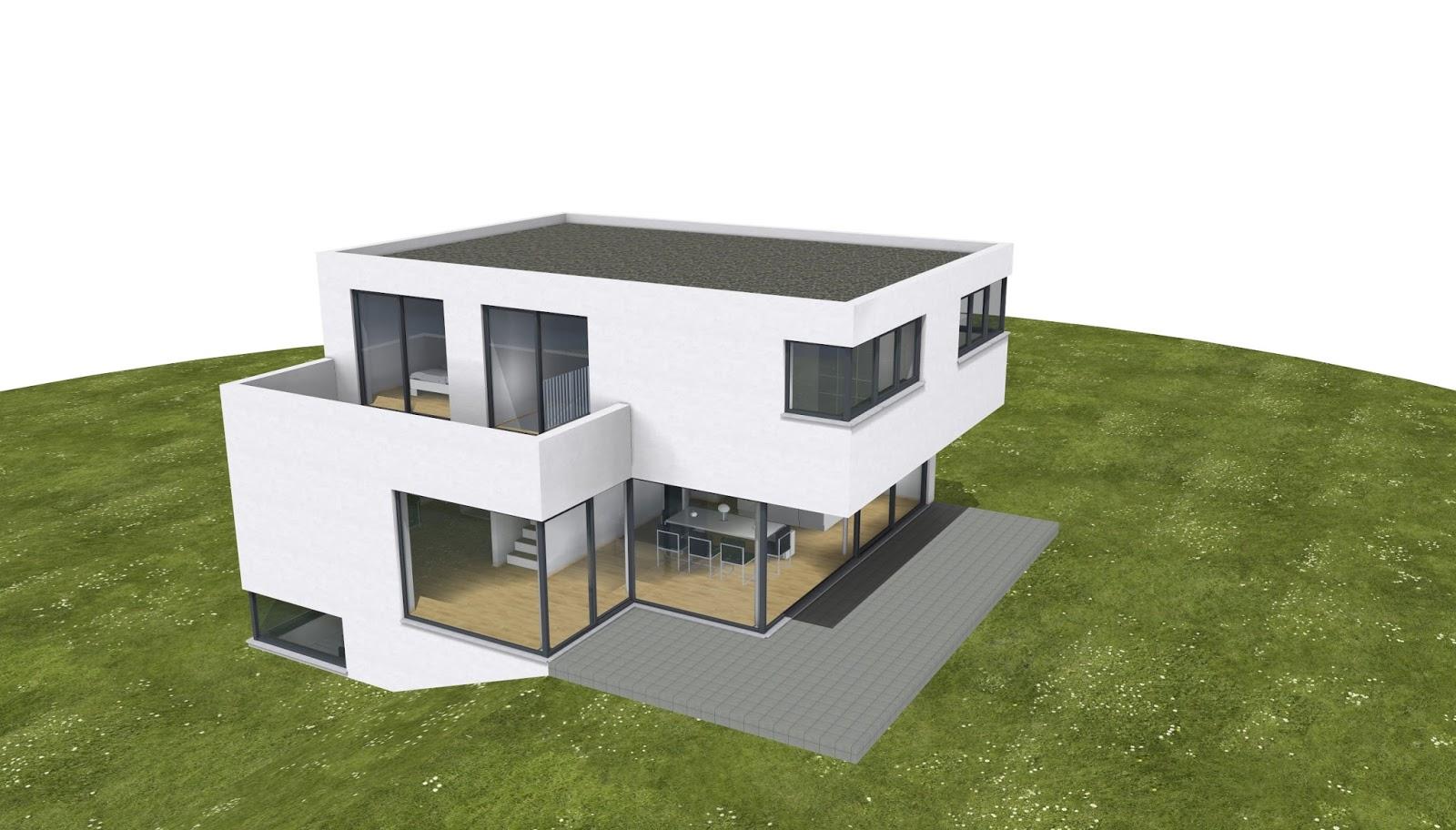 Architekt einfamilienhaus im bauhausstil 2p raum for Architekt einfamilienhaus