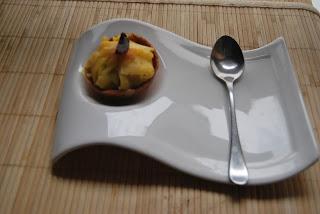 Tartaletas de aguacate y mango
