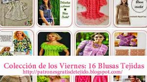 16 modelos de Patrones de Blusas tejidas