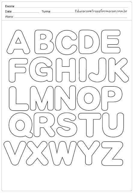 Abecedario Letras Do Alfabeto Para Imprimir Como Fazer