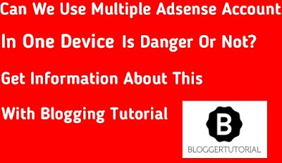 Use multiple adsense account in on pc