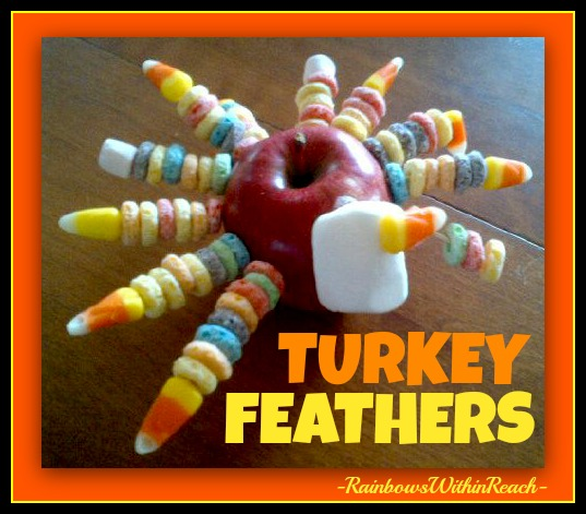 photo of: Turkey Centerpiece using Apple and Cereal Bits