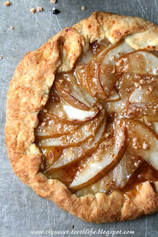 Pear and Toffee Galette