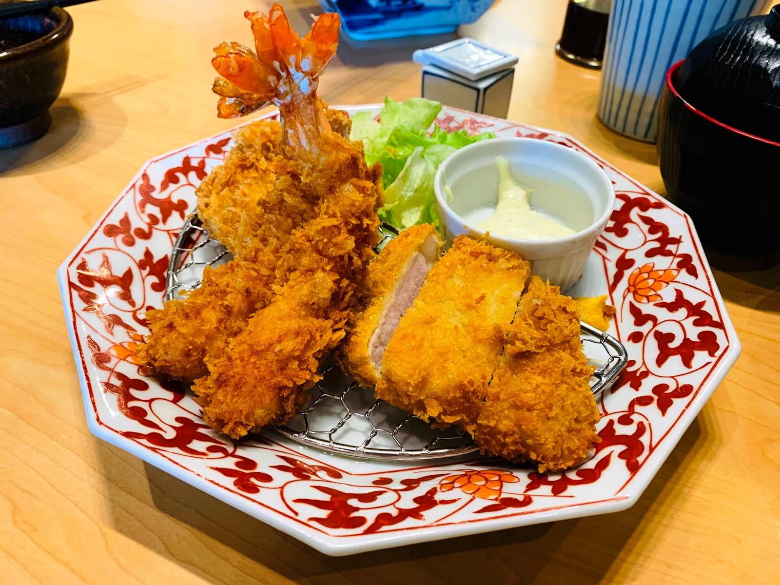 日式炸豬里肌+草蝦