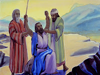 As Moses tired, they would support him, as Joshua fought the battle.