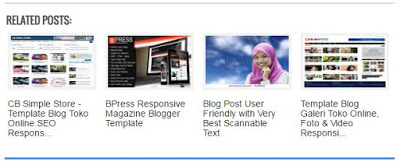 Related post thumbnails Blogger Horizontal