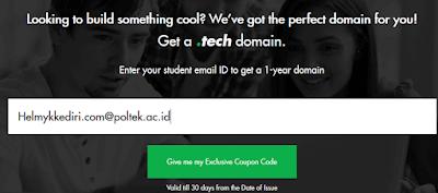 Cara mendapatkan domain tech secara gratis