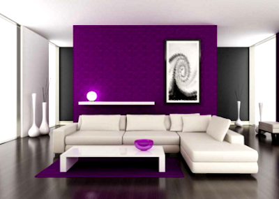 dekorasi ruang tamu kombinasi 2 warna yang cantik 2017
