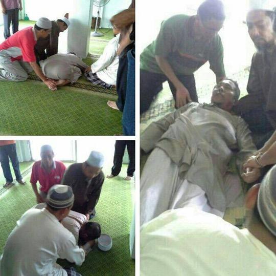 Subhanallah, Bilal Surau Mati Ketika Sujud
