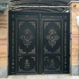 Pintu Besi Tempa, Pintu Besi Klasik, Pintu Antik