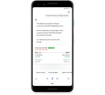 Google Assistant now shows you predicted flight delays