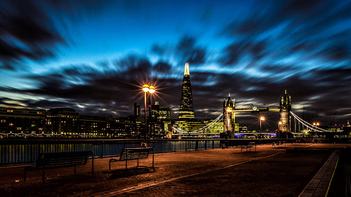 Wallpaper: Night. Bridge. London. Cityscape