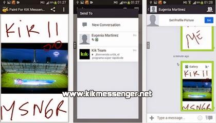 Dibuja y comparte con Paint para Kik Messenger
