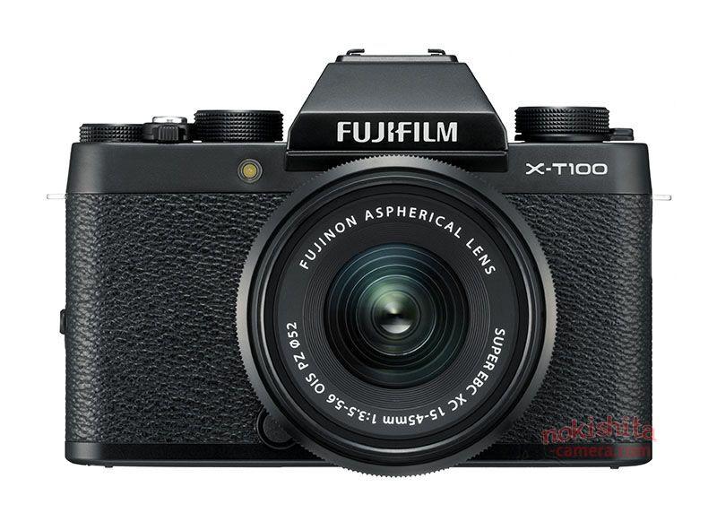 Fujifilm X-T100, вид спереди
