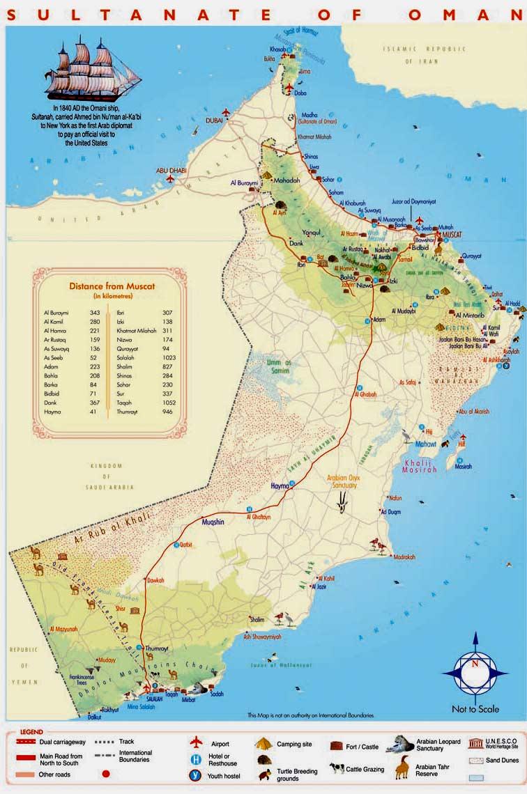 Karte Oman.Oman Geographischen Karte