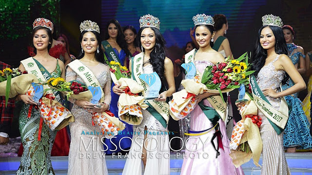 Karen Ibasco Crowned Miss Philippines Earth 2017 Winners