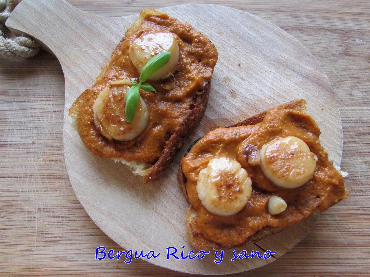 Comer rico y sano: Crema de ratatouille con vieiras - photo#15