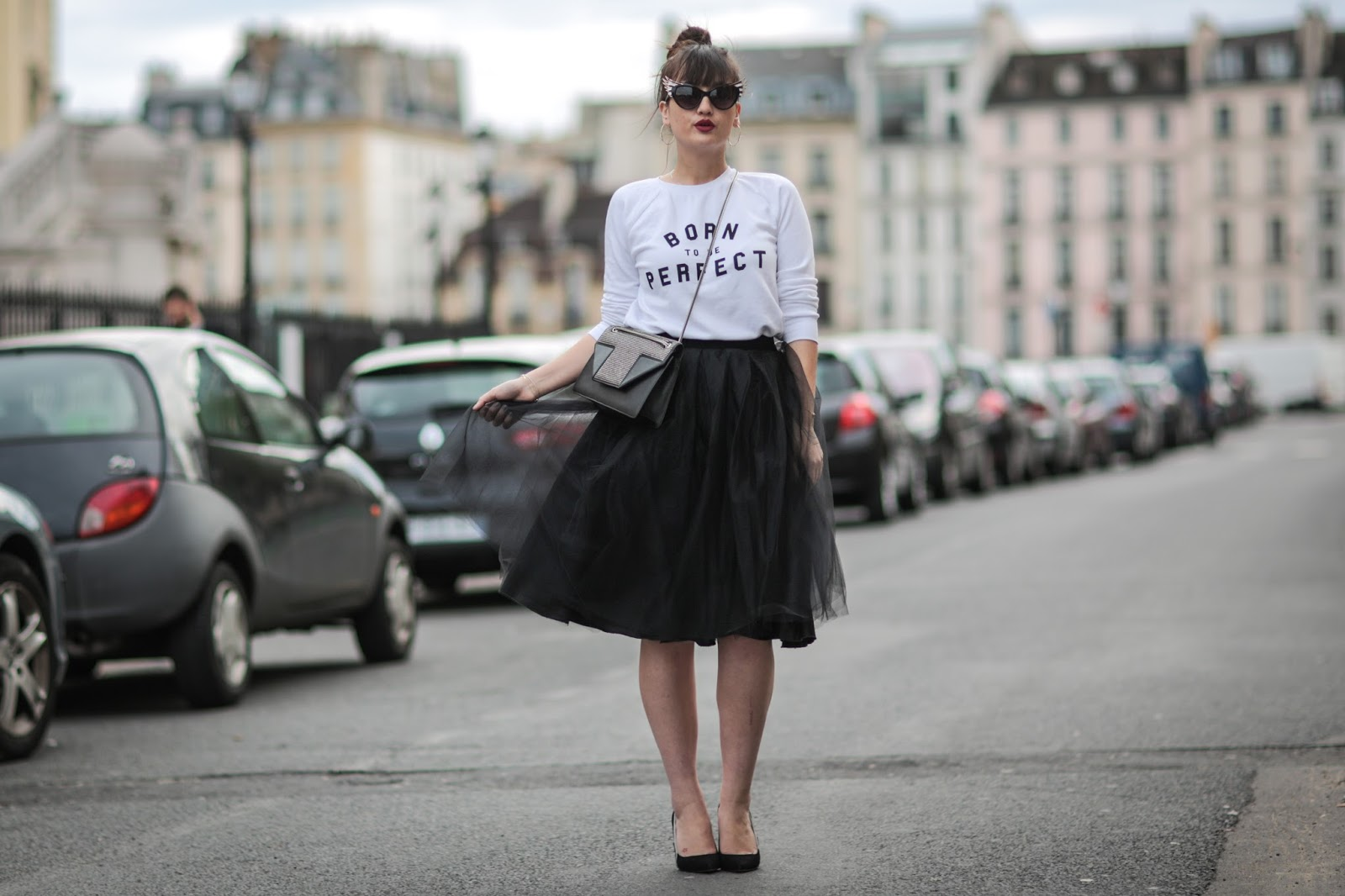 Tulle skirt, Parisian Fashion blogger, look, chic, style, paris, meetmeinparee, how to wear a tulle skirt