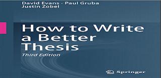 How to Write a Better Thesis | David Evans | Paul Gruba | Justin Zobel | pdf download