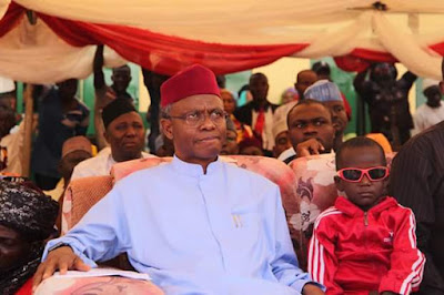 Photos: Governor El-Rufai moved to tears upon meeting little Sadiq whose eyes were gouged out by ritualists