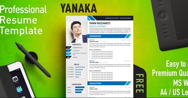 Download 9 Template Cv Menarik Secara Gratis Warung Internet