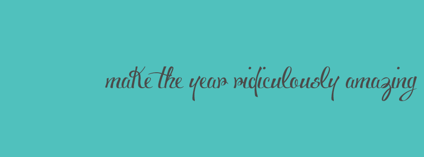 Free New Year's Facebook Timeline Covers | Inspirational words to ring in the new year with!