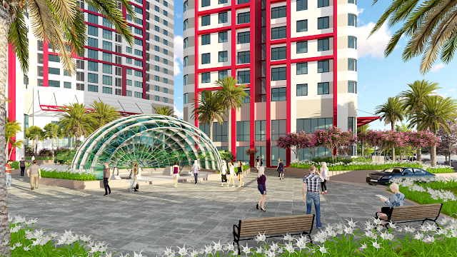 không gian được thiết kế quy mô đẳng cấp tjai chung cư imperial Plaza
