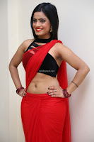 Aasma Syed in Red Saree Sleeveless Black Choli Spicy Pics ~  Exclusive Celebrities Galleries 031.jpg