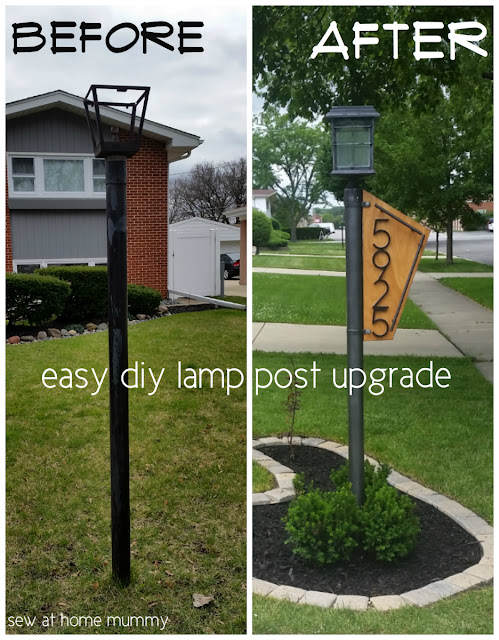A really easy way to add some curb appeal - How to quickly and easily update your yard lamp post - by yourself! Easy solar conversion tutorial, step by step, including links to supplies and lighting ideas!