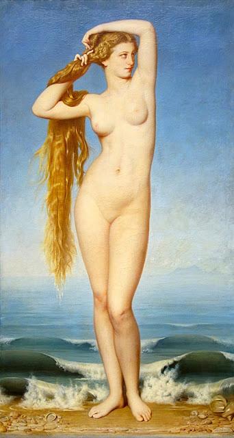 Eugène-Emmanuel Amaury-Duval - La nascita di Venere - nudo pittorico femminile