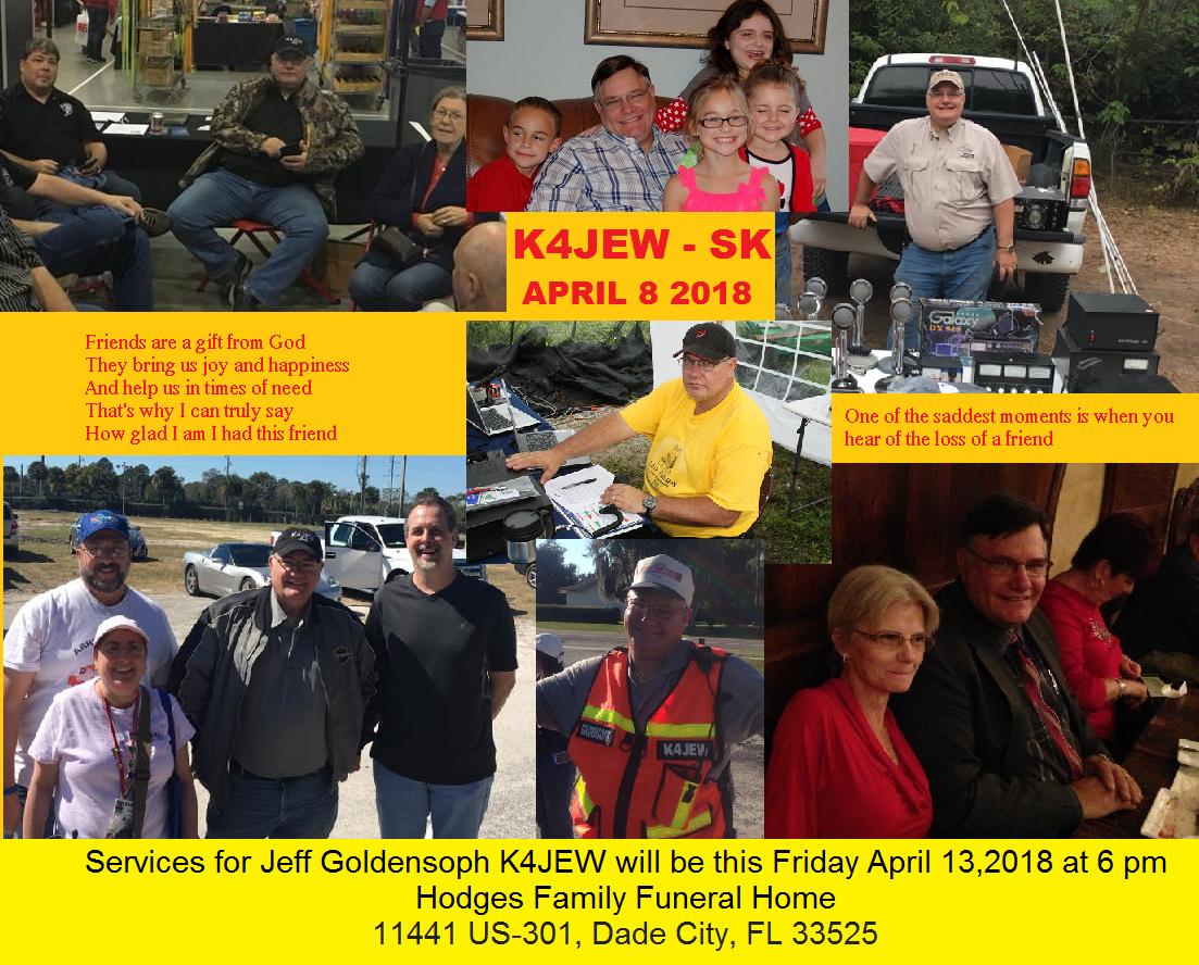 Lakeland Amateur Radio Club: Jeff Goldensoph K4JEW Has