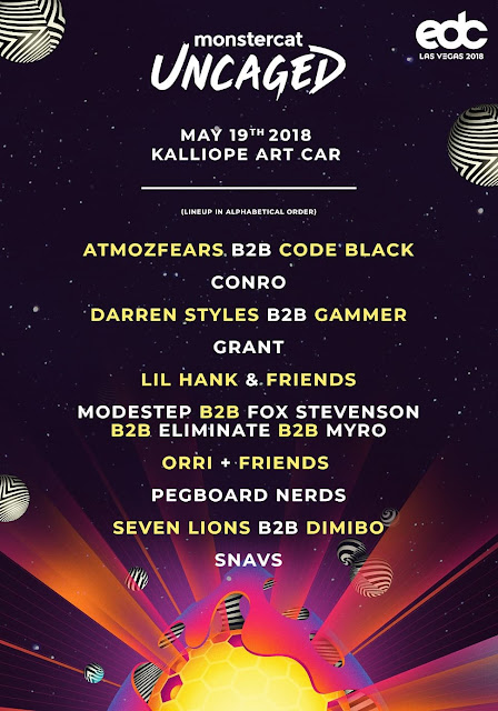 Monstercat Announces EDC Art Car Lineup  Flyer