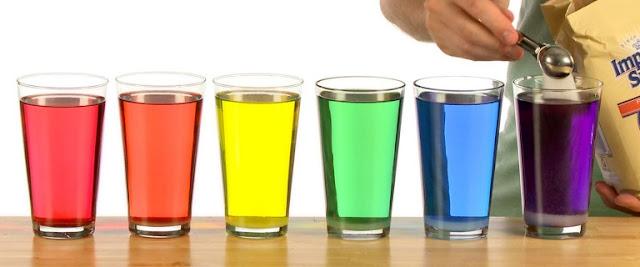 Sugar Rainbow Layering Science Experiment