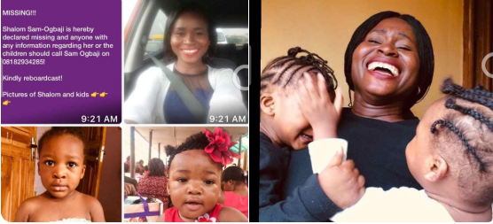 Mum and her three kids declared missing in Lagos
