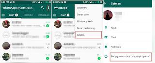Cara setting penyimpanan whatsapp