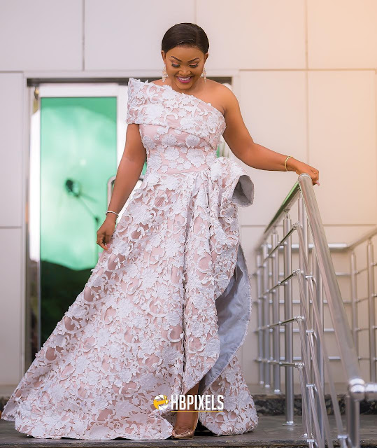Mercy Aigbe wows in two outfits for her 40th birthday party