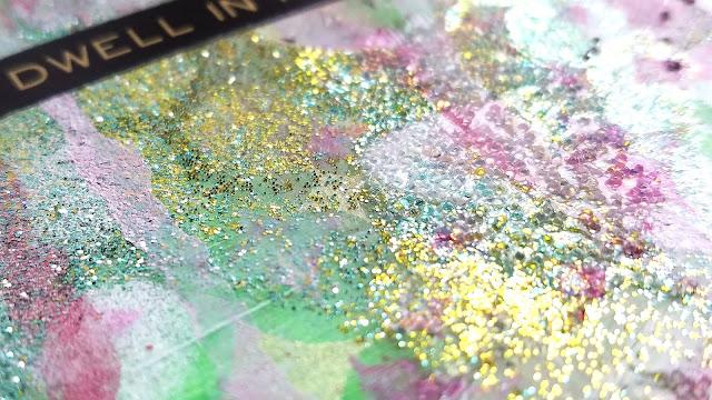 Glittery Mixed Media Art Journal Tag