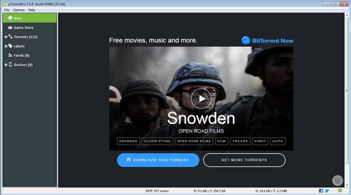 Download Free Software PC uTorrent Pro 3.4.9. Build 43388 Stable Latest Version Offline Installer