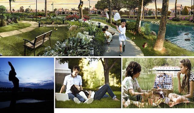 Tiện ích xanh mang đến trải nghiệm tự nhiên, không gian nghỉ dưỡng