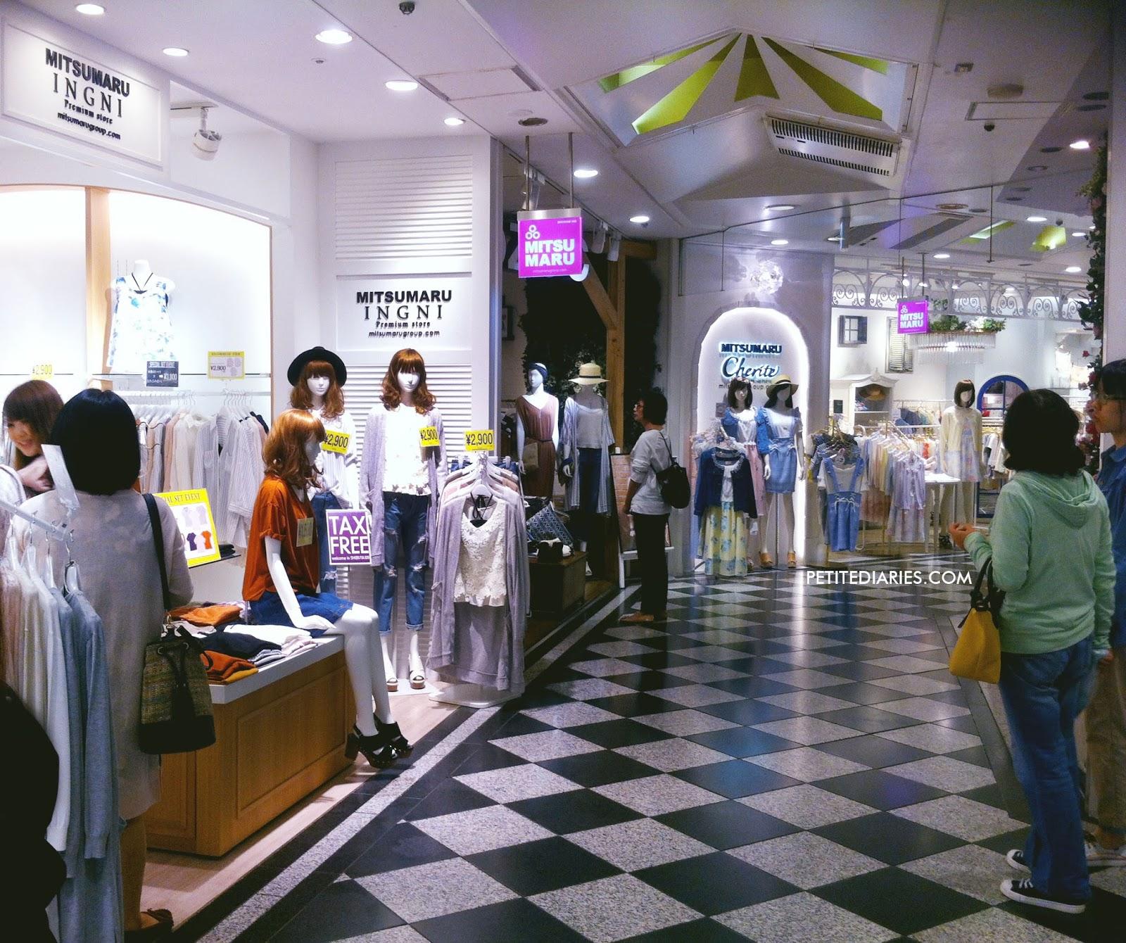 shops inside shibuya 109