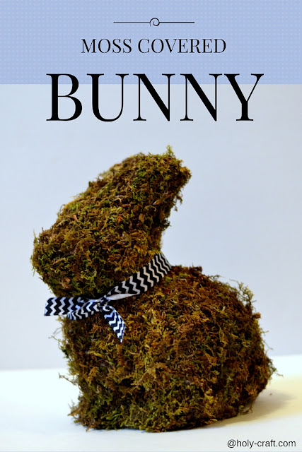 moss covered bunny rabbit
