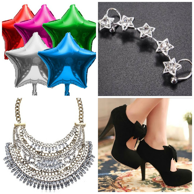 fashion ear cuff stars statement necklace bows heels