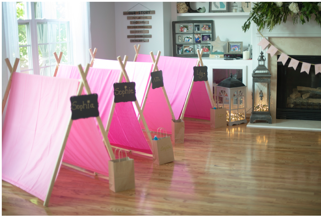 Home confetti diy glamping party for Glamping ideas diy