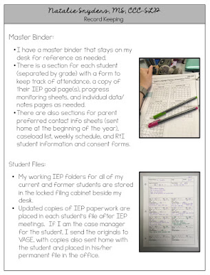 SLP Editable Portfolio by Natalie Snyders