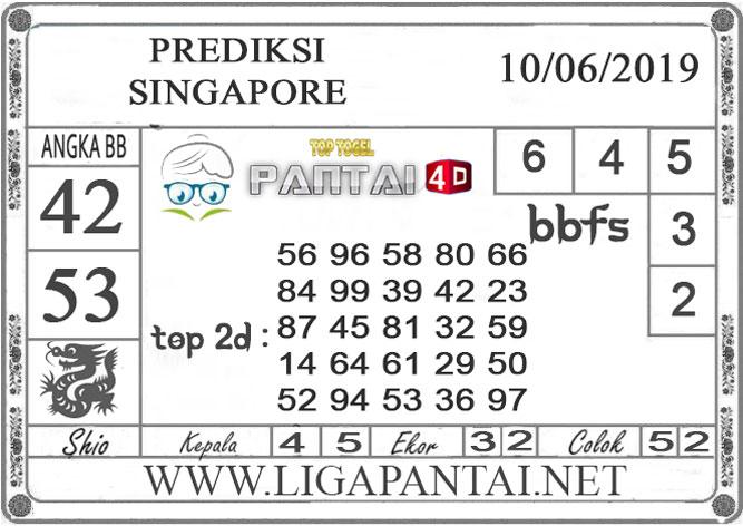 """Prediksi Togel """"SINGAPORE"""" PANTAI4D 10 JUNI 2019"""
