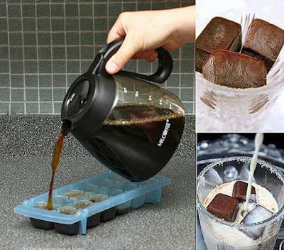 Milchkaffee selber machen mit Kaffee-Eiswürfeln