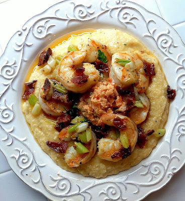 Southern Shrimp and Grits with Bacon and Tomato Butter
