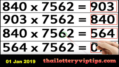 Thai lottery 3up open set number win formula  01 January 2019